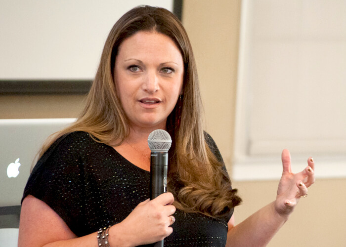 Jennifer Bourn Speaking About Work-Life Balance