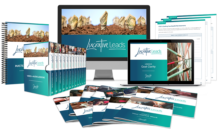 Lucrative Leads Course Collage | What's Included