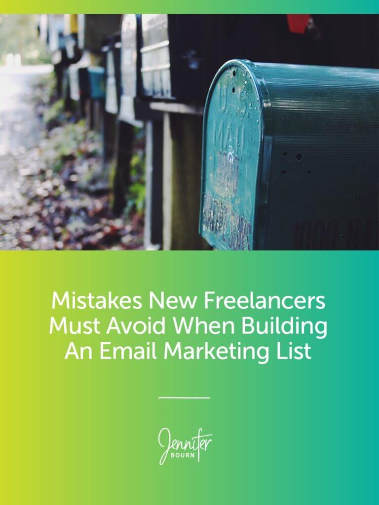 Freelance Business Email Marketing Mistakes