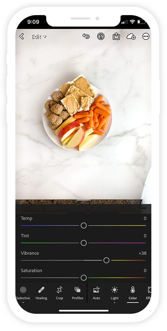 Adobe Lightroom App Photo Settings