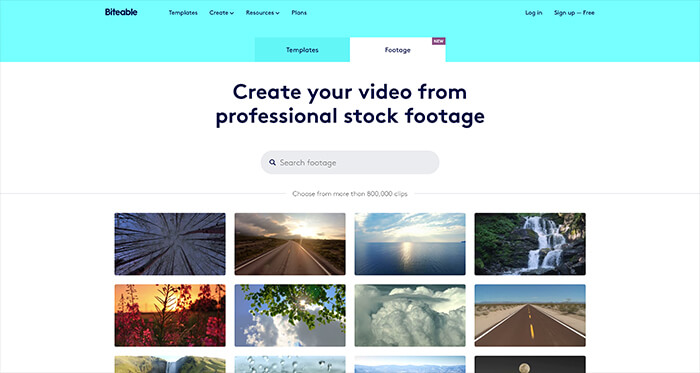 Free Stock Video Resource: Biteable