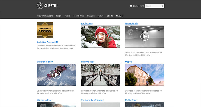 Paid Stock Video Resource: Clipstill