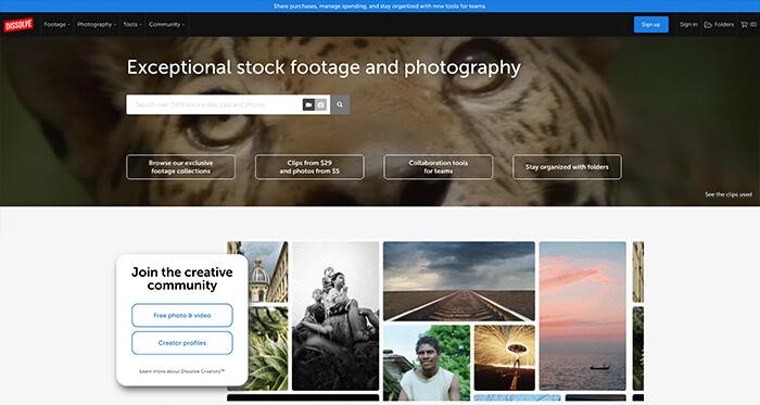 Paid Stock Video Resource: Dissolve