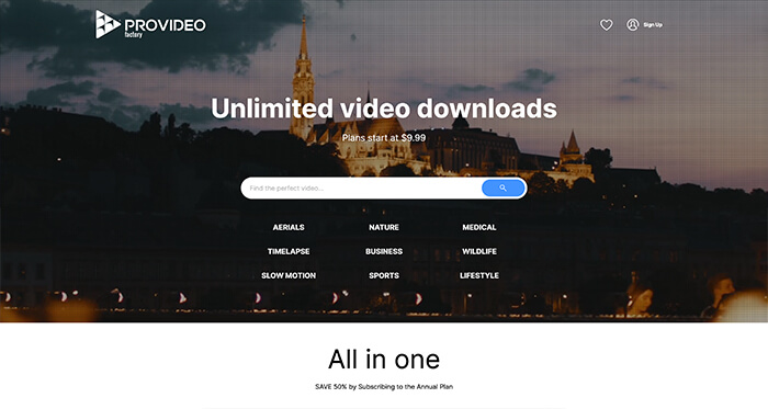 Paid Stock Video Resource: Provideo