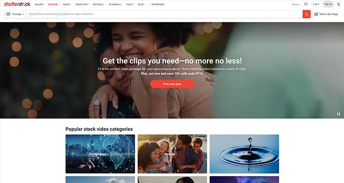 Paid Stock Video Resource: Shutterstock