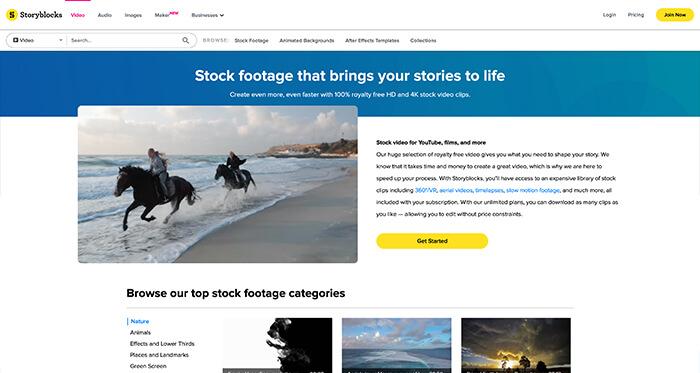Paid Stock Video Resource: Storyblocks
