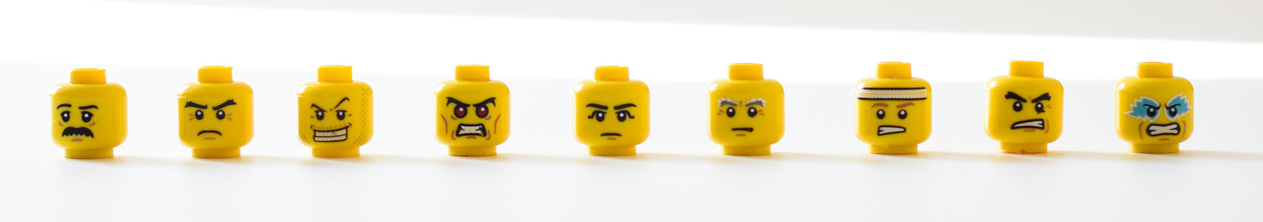 Lego Heads With Mad and Angry Faces